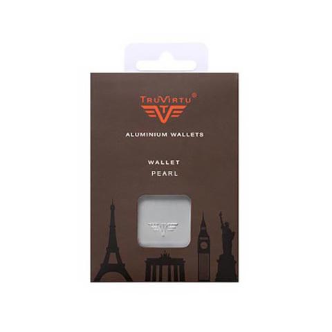 Визитница c защитой Tru Virtu Pearl, оранжевый , 104x67x17 мм