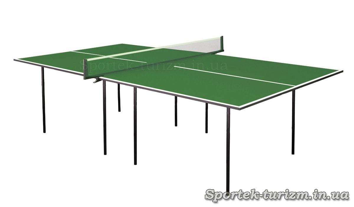Простий зелений тенісний стіл для приміщень