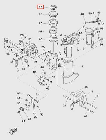 Хомут для лодочного мотора T5 Sea-PRO (10-47)