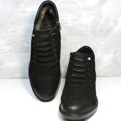Мужские ботинки зима Luciano Bellini 71783 Black.