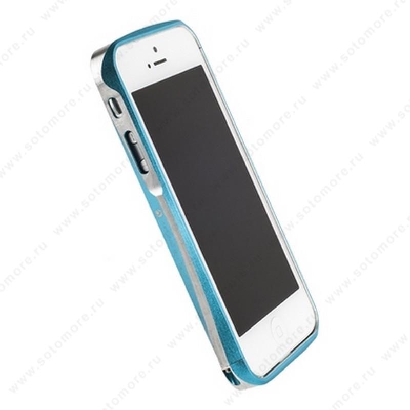 Бампер Deff CLEAVE алюминиевый для iPhone SE/ 5s/ 5C/ 5 A6061 бирюзовый