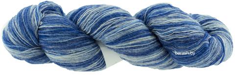 Пряжа Кауни 8/1  Blue1 (сине-белый)