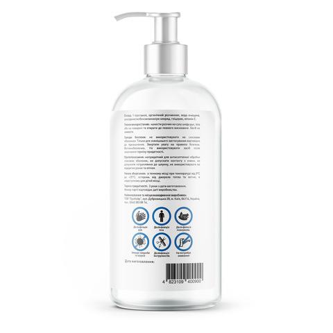 Антисептик розчин для дезінфекції рук, тіла і поверхонь Touch Protect 500 ml (3)