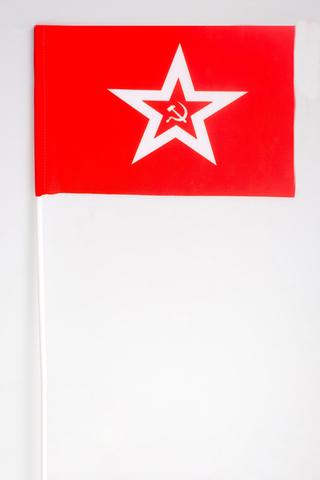 Флажок на палочке Гюйс ВМФ СССР 15х23 см
