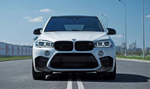 Карбоновый спойлер переднего бампера  для BMW X5M F85