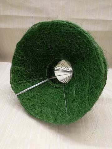 Каркас для букета гладкий (сизаль, диаметр: 15 см) Цвет: зеленый