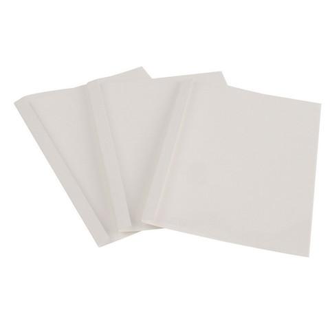 Обложки для термопереплета Promega office А4 картонные/пластиковые белые (корешок 8 мм, 100 штук в упаковке)
