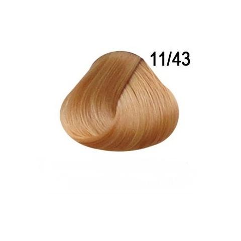 Перманентная крем-краска для волос Ollin 11/43 специальный блондин медно золотистый