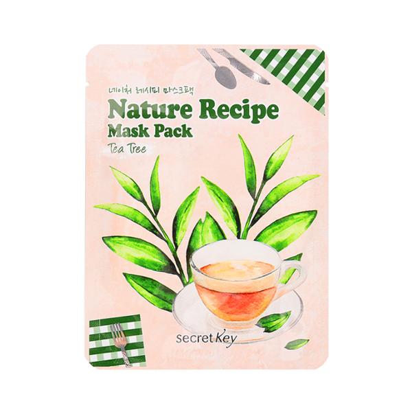 Маска с экстрактом чайного дерева Secret Key Nature Recipe Mask Pack Tea Tree