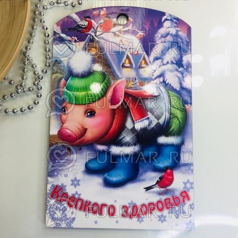 Доска разделочная деревянная Новогодняя декоративная Свинка