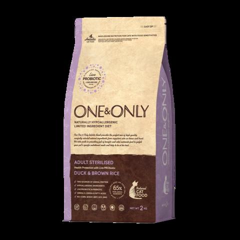 One&Only Duck & Rice Adult Sterilised Сухой корм для стерилизованных кошек Утка с рисом низкозерновой