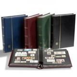 Кляссер для марок PREMIUM A4, 32 черных страницы, с шубером, кожаная обложка, черный