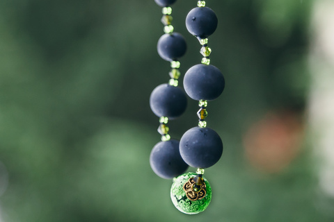 Ожерелье Монте Амиата с зеленой бусиной