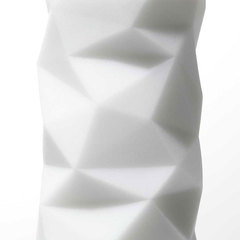 Белый 3D мастурбатор POLYGON -
