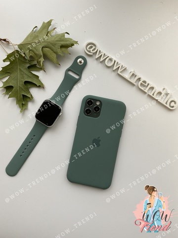 Ремешок Apple watch 38/40mm Sport Band /pine green/ сосновый лес (S)