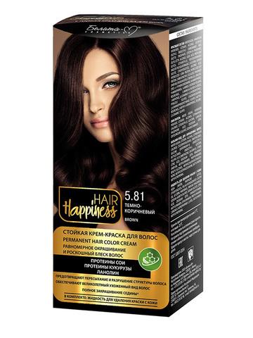 Белита-М Hair Happiness Крем-краска для волос аммиачная №5.81 темно-коричневый