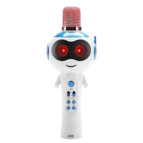 Портативная техника-Микрофон L838(синий)
