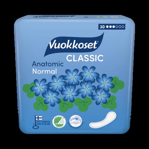 Vuokkoset Прокладки повышенной впитываемости Anatomic без крылышек, 30 шт.
