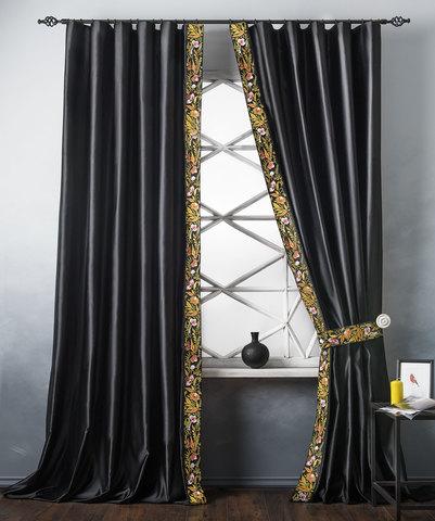 Комплект штор Форева черный