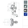 Смеситель термостатический для ванны с душевым комплектом и изливом GAUDI 3048 - фото №2