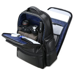 Рюкзак для ноутбука BOPAI 61-17311 нат.кожа чёрный