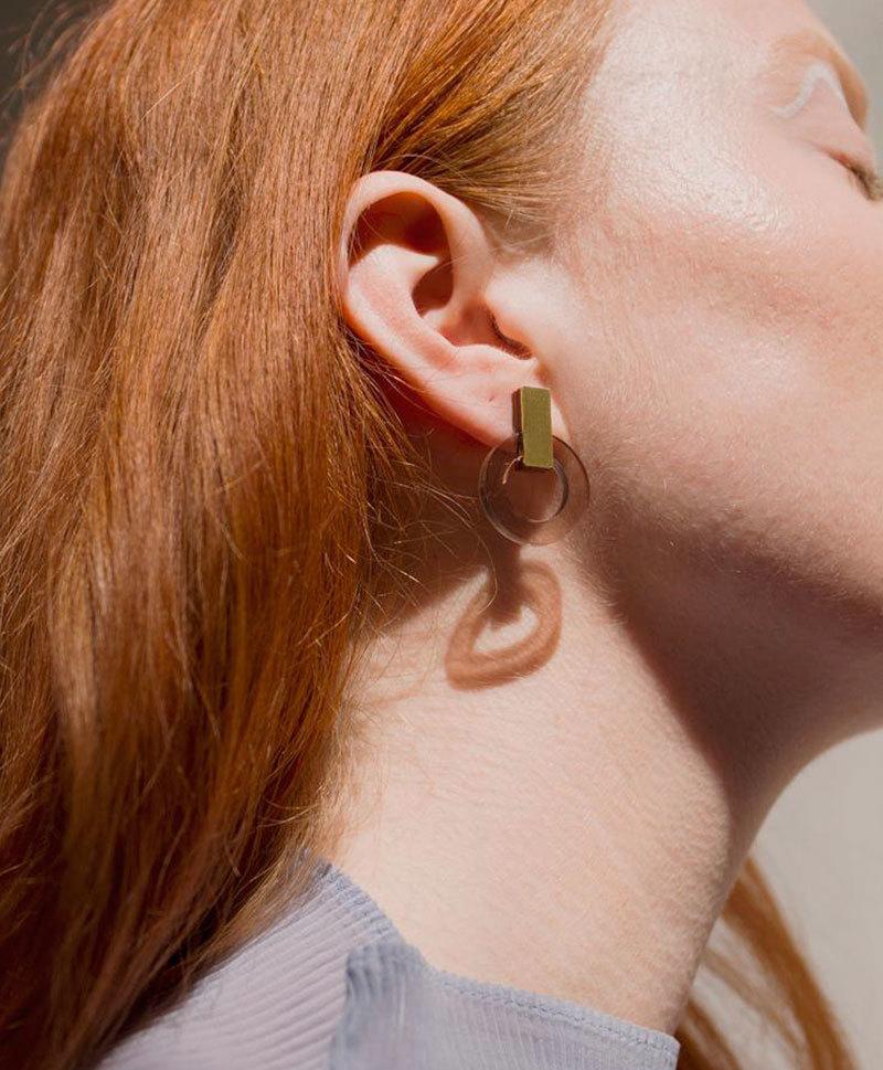 Серьги Orbit Earrings Caramel