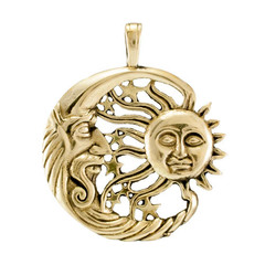 Луна и солнце кулон