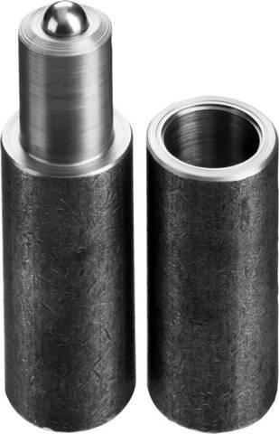 Петля СИБИН для металлических дверей, галтованная, цилиндрической формы, с впрессованным шариком, 20х110мм