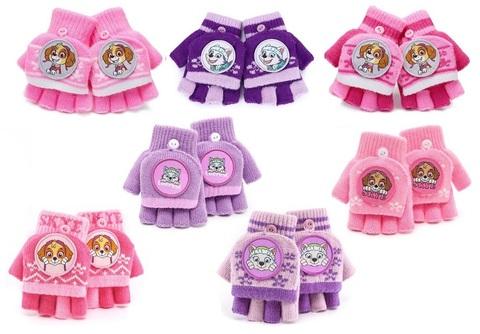 Щенки перчатки трикотажные для девочки