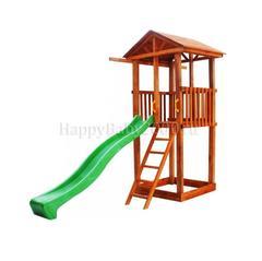 Детская площадка М1 с деревянной крышей