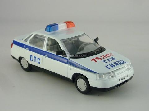 VAZ-2110 Lada DPS 75 years GAI Road Police 1:43 Agat Mossar Tantal
