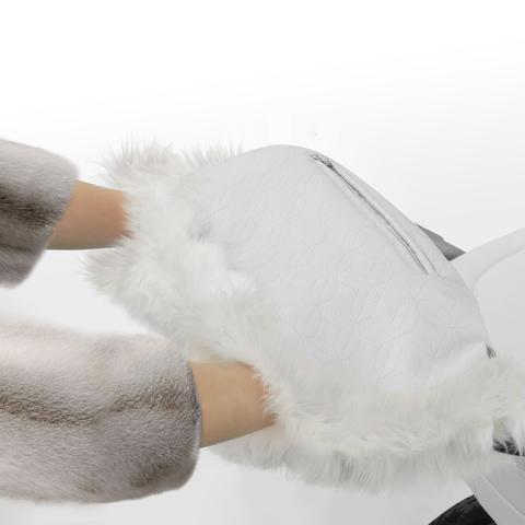 Муфта для рук на коляску ( натуральный мех )