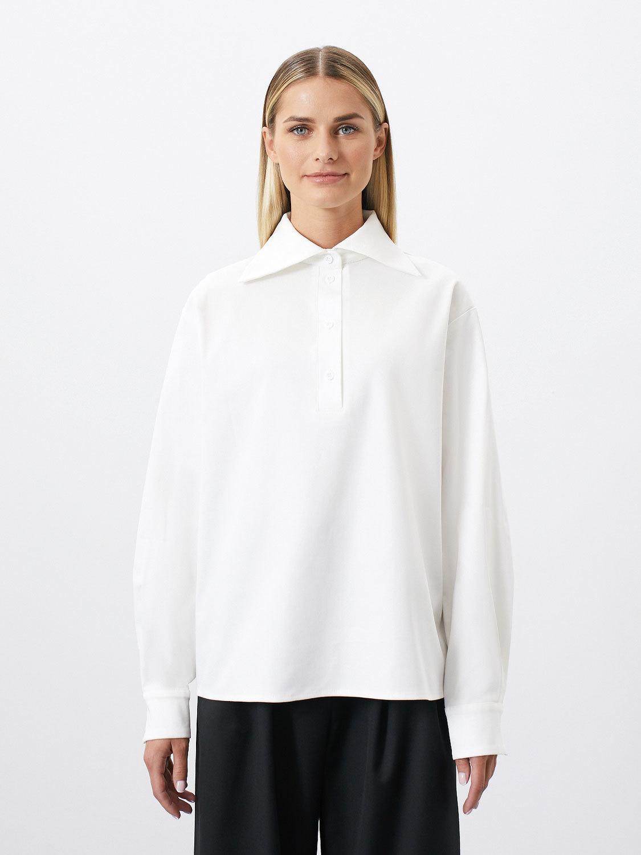Рубашка Yvon с большим воротником, Белый