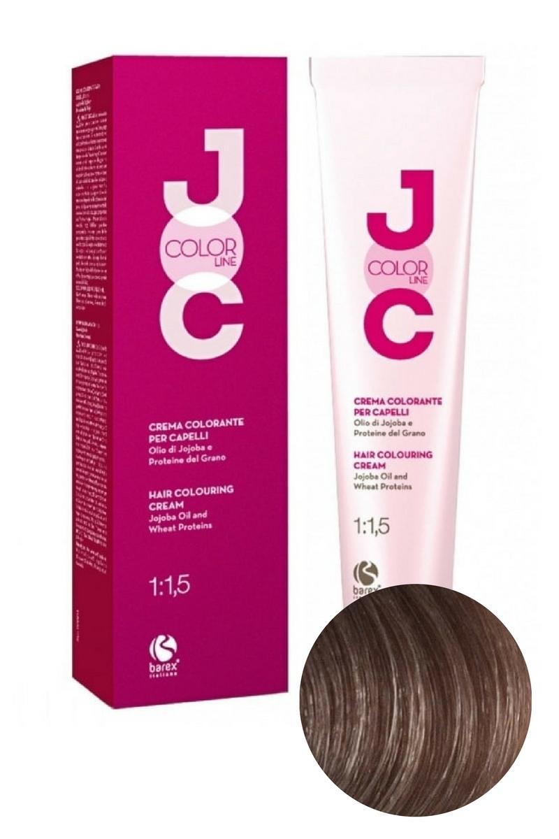 Крем-краска для волос 8.01 блондин натуральный пепельный JOC COLOR, Barex
