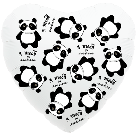 Шар Сердце Панды в невесомости