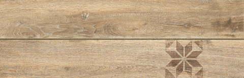 Керамогранит CERSANIT Ornamentwood 598x185 декорированный бежевый C-OW4M013D