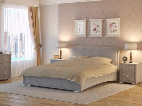 Кровать двуспальная Nuvola 4 (Нувола 4) Ткань: Глазго серая
