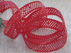 Лента-сеточка красная ширина 22 мм