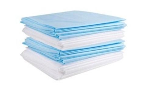 Простыни голубые, 200х80 см, спанбонд ,10 шт.