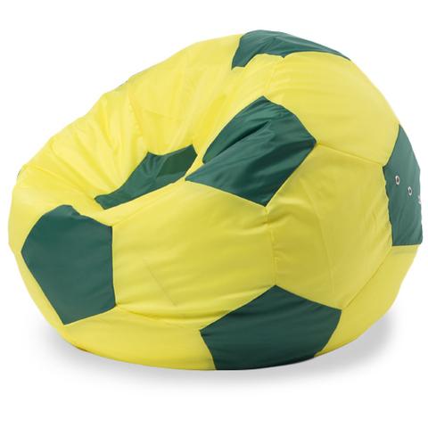 Бескаркасное кресло «Мяч» L, Желтый и зеленый