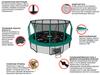 Батут Unix 12 ft SUPREME Game (Green) - 3,66 м