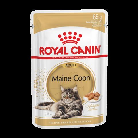 Royal Canin Maine Coon Консервы для кошек породы Мейн-Кун кусочки в соусе (Пауч)