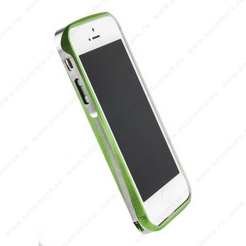 Бампер Deff CLEAVE алюминиевый для iPhone SE/ 5s/ 5C/ 5 A6061 салатовый