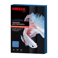 Обложки для переплета картонные Promega office А4 230 г/кв.м голубые текстура кожа (100 штук в упаковке)