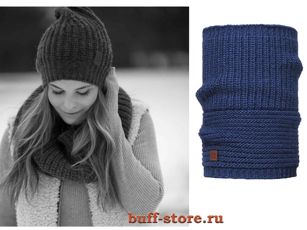 Вязаные шарфы Модный шарф-труба Buff Gribling Blue Limoges 12.jpg