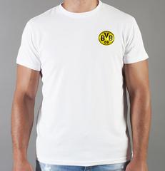Футболка с принтом FC Borussia Dortmund (ФК Боруссия) белая 006