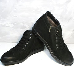 Черные ботинки на шнуровке мужские Luciano Bellini 71783 Black.