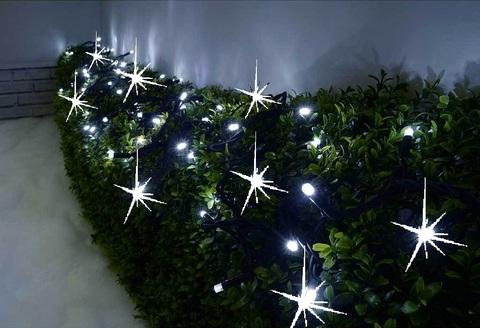 Гирлянда на улицу для кустов деревьев нить стринг string light led