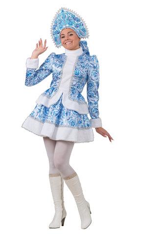 Взять напрокат костюм Снегурочки Гжель - Магазин