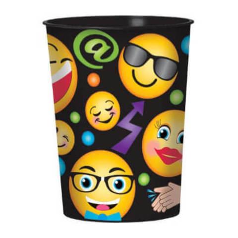 Стакан пластик Эмоции Смайлик 473мл